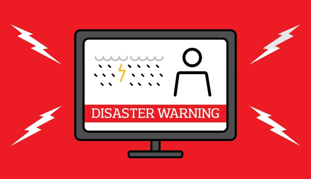 Disaster warning graphic