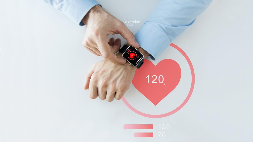 Man using wearable medical device